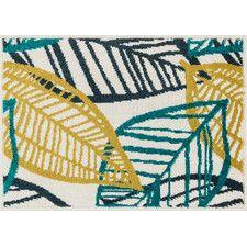 Terrace Ivory/Tropical Area Rug