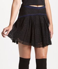 Loving this Black Apple of My Eye Skirt on #zulily! #zulilyfinds $28.99 Would go well with leggings and knee high boots.