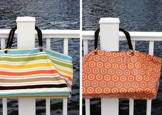 Reversible extra-large beach bag!