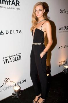 Cara Delevingne at amfAR Inspiration Gala in Brazil