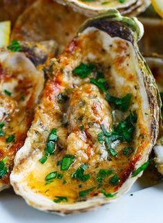 Chargrilled Oysters | A Dozen Grilled Seafood Recipes For Your Next Seafood Feast by Homemade Recipes at http://homemaderecipes.com/12-grilled-seafood-recipes/