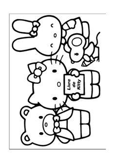 Hello Kitty Kleurplaten voor kinderen. Kleurplaat en afdrukken tekenen nº 23