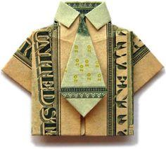 pénz origami ing hajtogatás