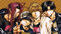 Saiyuki ~~ Hipsters one and all :: Gojyo, Goku, Sanzo, and Hakkai
