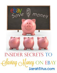 All the secrets of my 15 years on eBay broken down into one post! Insider Secrets to Save Money on eBay #ebay #savemoney