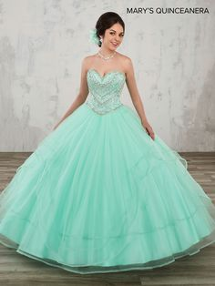 39fe6fbc818 Strapless A-Line Quinceanera Dress by Mary s Bridal. Lucero s Fine Boutique