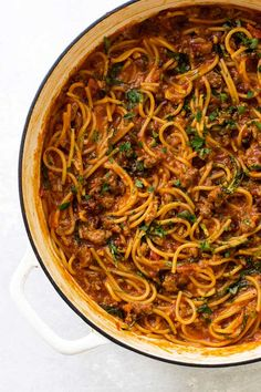 ONE-PAN SPAGHETTI BOLOGNESE WITH SUN-DRIED TOMATOES