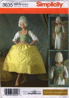 Simplicity 3635 18th Century Undergarments Pattern Deborah Woodbridge sewing pattern Uncut | PatternGate - Craft Supplies on ArtFire