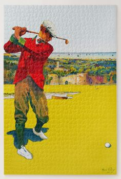 "Vintage 1907 Golf Jigsaw Puzzle, 1014 pieces. 20"" x 30"" Puzzle with Gift Box, 1,014 Pieces. It's always the small pieces that make the big golfing picture! Vintage illustration. Makes a great golf gift https://www.zazzle.com/vintage_1907_golf_jigsaw_puzzle_1014_pieces_jigsaw_puzzle-116628076859076544 #golf #puzzle #jigsaw #gift #sports"