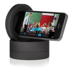 The Galileo by Motrr is a robotic dock for iPhone and iPod Touch that allows remote control of your device from Switcher Studio.  Shoot dynamic multi-camera productions even when you are alone. Simply cue up the source sync'd with the Galileo to your video preview window and move your finger across the screen to pan/tilt the camera.  For more information visit www.motrr.com and use promo code SWITCHER to save up to 10%
