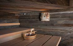 Atypické dřevěné obložení sauny Klafs Halle, Kitchen, Cooking, Hall, Kitchens, Cuisine, Cucina