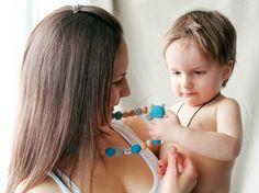 Organic Nursing necklace Teething bead necklace by kangarusha