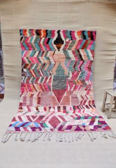 Tapis vintage marocain tapis Boujaad tapis fait main tapis | Etsy