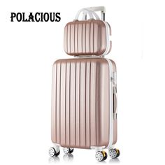 """76.52$  Buy here - http://alixt9.worldwells.pw/go.php?t=32712238997 - """"20+12inch New surface like sandpaper stripes trolley suitcase sets/ 20"""""""" boarding luggage/10Colors universal wheels trolley candy"""""""