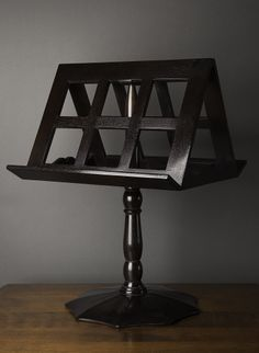 ABBY Rotating Book Stand Walnut with Tete de Negre finish Holds books, scrolls, small paintings etc.