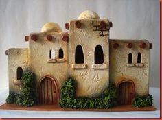 "Artesanías ""Luis"": LA CASA DE JACOB Simple Christmas, Christmas Crafts, Christmas Decorations, Xmas, Miniature Crafts, Miniature Houses, Christmas Villages, Christmas Nativity, Fontanini Nativity"