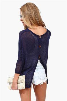 Button Back Knit