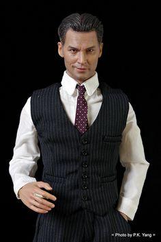 OOAK Custom Johnny Depp Doll, from a Hot Toys Base.