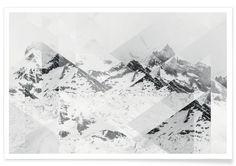 Perito Moreno BW Scattered - Joe Mania - Premium Poster
