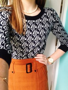 """Poised and Preppy // """"just keep swimming…"""" -finding nemo Cute way to wear this sweater I have :)"""