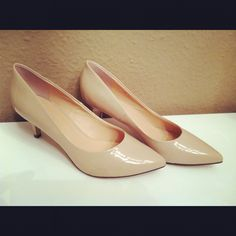 Nude shoes with a small heel!