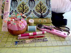A Romantic Bedroom Retreat with Rowan & FreeSpirit Fabrics: Pillow Jacket
