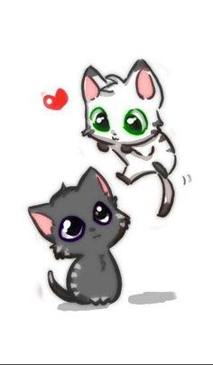 kawaii neko cat  google zoeken  drawings  pinterest