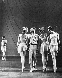Ashton's Symphonic Variations, Pamela May, Michael Somes, Moira Shearer and Margot Fonteyn with Henry Danton.