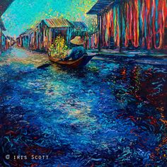 Iris Scott's finger painting, My Thai Floating Market