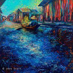 Iris Scott's finger painting, My Thai Floating Market