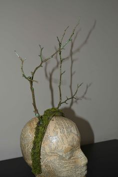 Fairy TWIG ANTLER Halloween Costume Headband Moss & Antlers Made of Real Twigs Mossy Glitter super cool idea!