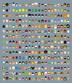 Mimimalist versions of 315 pop-culture characters. I feel I could stare at this for hours trying to figure them all out.