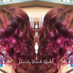 Miss Katie made a huge change today!!!  brought her from a natural level 5/6 to this multidimensional gorgeous color by doing a full Balayage first then overlaying all her hair with a joico intensities custom mixture including : magenta, Pink & wild orchid! ❤️❤️❤️