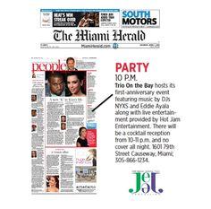 Trio on the Bay First Anniversary Celebration in The Miami Herald!