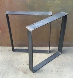 Juego de patas de mesa de metal de 2 por DelSteel en Etsy