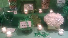 St. Patrick's Day Wedding Candy table