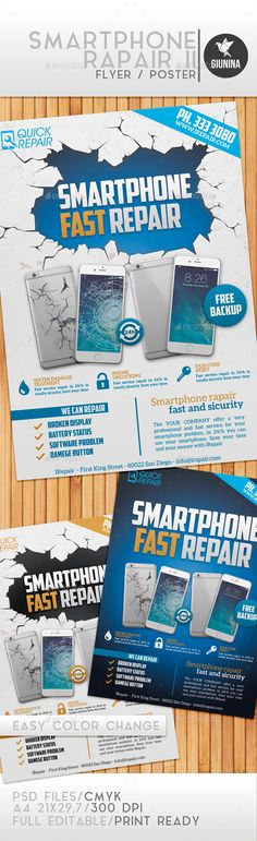 Smartphone Repair II Flyer/Poster - Commerce Flyers