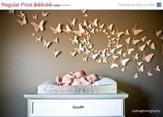 80 3D Butterfly Wall Art Circle Burst by LeeShay on Etsy, $60.00