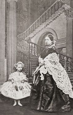 Queen Victoria and her daughter 'baby' Beatrice, 1861 Photographer: John Mayall, London