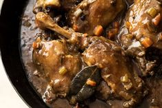 For a special holiday dinner, go beyond coq au vin, with rich duck and earthy lentils instead of the usual chicken and potatoes. Black Bean Soup, Bean Stew, Lentil Recipes, Pinto Beans, Holiday Dinner, Meals For One, Lentils, Spicy, Chicken Recipes