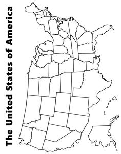 Charming Map Of The USA Coloring Page