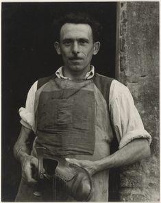 Cobbler, Luzzara, Italy; Paul Strand (American, 1890 - 1976); 1953; Gelatin…