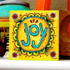 JOY  Art Block  Inspirational  Stackable  Wall by karladornacher, ETSY♥♥