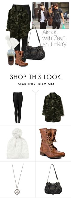 """Airport with Zayn and Harry"" by cheyenne-stock ❤ liked on Polyvore featuring Topshop, G-Star Raw, Joes, Steve Madden, Ileana Makri and Forever 21"