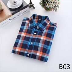 New Fashion Plaid Shirt Female College style women's Blouses Long Sleeve Flannel Shirt Plus Size Cotton Blusas Office tops