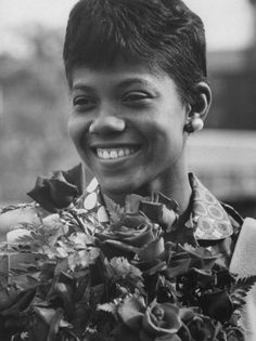 In Wilma Rudolph became the first American woman to win three gold medals in track and field at a single Olympics. Wilma Rudolph, African American History, American Women, Great Women, Amazing Women, Kings & Queens, Women In America, Interesting History, Black History Month