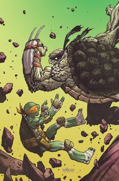 TMNT#35_cover by Santolouco on deviantART
