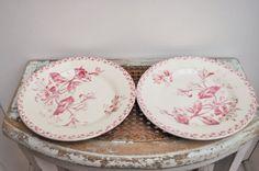Antique Dinner plates from GIEN model by LaBourgognedeNath on Etsy