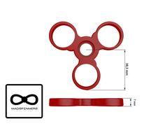 Negro Fidget Spinner juguete Tri-spinner dedo de por MadSpinners