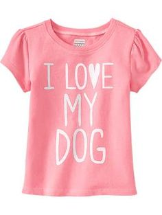 """""""I ♥ My Dog"""" Tees for Baby need to add an s at the end.. and wish it was in a different color.. but it's still cute"""